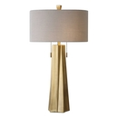 Online Designer Combined Living/Dining Sleek Gold Base Table Lamp