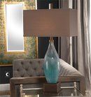 Online Designer Living Room Ocean Blue Art Glass Table Lamp