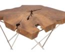 Online Designer Living Room TEAK AND METAL END TABLE