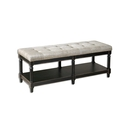 Online Designer Kitchen Khaki Upholstered Tufted Bench