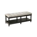 Online Designer Kitchen Khaki Upholstered Tufted Bench