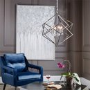 Online Designer Combined Living/Dining Silver White Wall Art
