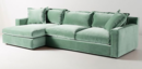 Online Designer Living Room Velvet Katina Sectional Sofa |  Color Duck Egg