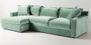 Online Designer Living Room Velvet Katina Sectional Sofa |  Color Duck Egg
