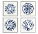 Online Designer Bathroom Porcelain Blue Paper Prints