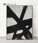 Online Designer Living Room Black White Abstract Painting,