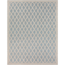 Online Designer Combined Living/Dining Blue and Beige Turkey Rug