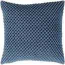 Online Designer Living Room Blue Crochet Pillow