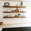 Online Designer Combined Living/Dining Wood Floating Shelves, Primitive Shelf, Floating Shelf