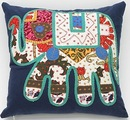 Online Designer Living Room Magical Thinking Elephant Patchwork Pillow
