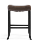 Online Designer Living Room SADDLE FAUX LEATHER BARSTOOL IN BROWN