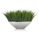 Online Designer Combined Living/Dining Faux Grass In Silver Pot