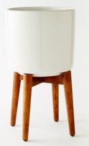 Online Designer Living Room Mid-Century Turned Leg Standing Planters - Solid