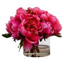 Online Designer Bedroom Peonies in Small Glass Cylinder