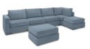 Online Designer Combined Living/Dining 6 Seats + 6 Sides Large Chaise Sectional Sofa