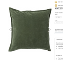 Online Designer Living Room Maxin Pillow - Dark Moss