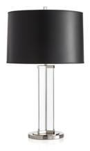 Online Designer Living Room Gleam Crystal/Nickel Black Shade Table Lamp