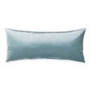 Online Designer Bedroom Glenna Jean Traffic Jam Oblong Velvet Throw Pillow in Blue
