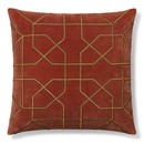 Online Designer Home/Small Office Moorish Tile Embroidered Velvet Pillow Cover