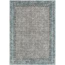 Online Designer Combined Living/Dining Gray and Light Blue Rug