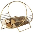 Online Designer Living Room Chord Brass Log Holder