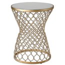 Online Designer Bedroom Gold Leaf End Table