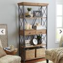 Online Designer Living Room Weathered Java Bookcase