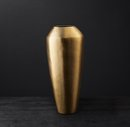 Online Designer Living Room BRASS TEARDROP VASE MEDIUM