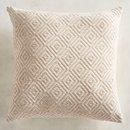 Online Designer Combined Living/Dining Diamond Chenille Ivory Pillow
