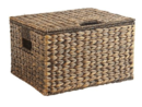 Online Designer Living Room Carson Espresso Wicker Rectangular Lidded Storage Basket