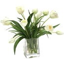 Online Designer Other Waterlook Elegant Tulips Floral Arrangements in Glass Vase
