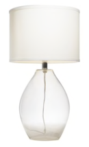 Online Designer Combined Living/Dining Kichler Lighting 1-light Clear Glass Table Lamp