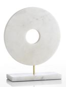 Online Designer Combined Living/Dining White Marble Circle on Stand