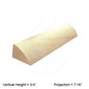 Online Designer Kitchen   Shoe Molding - (W-M-6) - Shaker II Maple Naval Shoe Molding