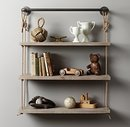 Online Designer Bedroom INDUSTRIAL PIPE & ROPE SHELF - 36
