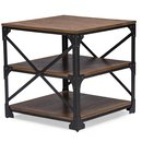 Online Designer Living Room Baxton Studio Greyson Vintage Industrial Antique Bronze Occasional End Table