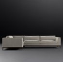 Online Designer Living Room ITALIA TAPER ARM L-SECTIONAL - OAK BASE