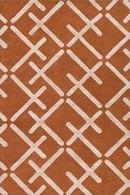 Online Designer Bedroom Burnt Orange and Khaki Rug
