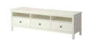 Online Designer Combined Living/Dining HEMNES TV unit, white stain