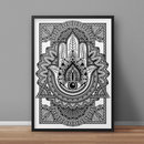 Online Designer Living Room Hamsa A3 Print Limited Edition