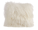 Online Designer Living Room Becky Mongolian Fur Throw Pillow by Zipcode Design