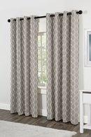 Online Designer Combined Living/Dining Jacquard Grommet Curtain Panels
