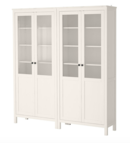 Online Designer Combined Living/Dining HEMNES Storage combination w/glass doors, white stain