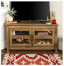 Online Designer Living Room 44-inch Wood Corner TV Stand - Barnwood