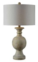 Online Designer Living Room Forty West Ellis Natural Carved Faux Stone Table Lamp