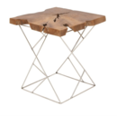 Online Designer Living Room TEAK AND METAL END TABLE
