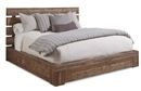 Online Designer Bedroom A.R.T. Furniture Epicenters Williamsburg Distressed Brown Platform Storage Bed - Queen