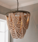 Online Designer Bedroom BEADED DRAPE CURL CHANDELIER