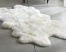 Online Designer Combined Living/Dining Ivory Sheepskin Throw/Rug