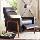 Online Designer Bedroom Spencer Wood Framed Leather Recliner